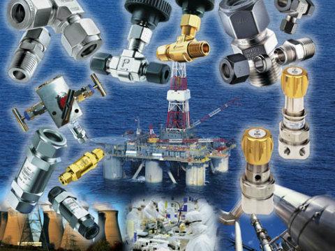 מקשרי A-Lok וברזים למכשור ומעבדות